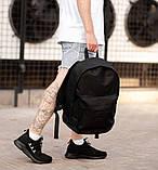 Городской рюкзак Classic Black, классический черный рюкзак, фото 4