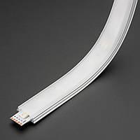 Алюминиевый накладной LED профиль ЛПГ анод + линза рассеиватель, фото 1