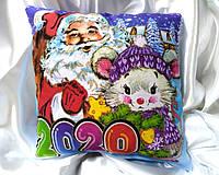 Новогодние подарки, сувениры, Подушка Двухстороняя,светяшка