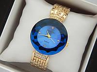 Оригинальные женские наручные часы Baosaili с короной, синий циферблат, золото