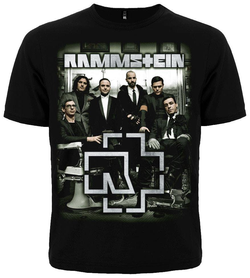 Черная футболка Rammstein (photo band with logo), Размер XL