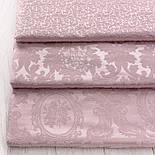 """Ткань жаккард шенилл пике """"Дамаск"""", цвет розовой пудры (№2374), фото 6"""
