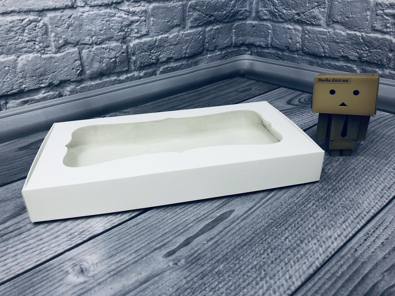*10 шт* / Коробка для пряников / 150х280х35 мм / Белая / окно-обычн