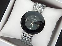 Оригинальные женские наручные часы Baosaili с короной, черный циферблат, серебро