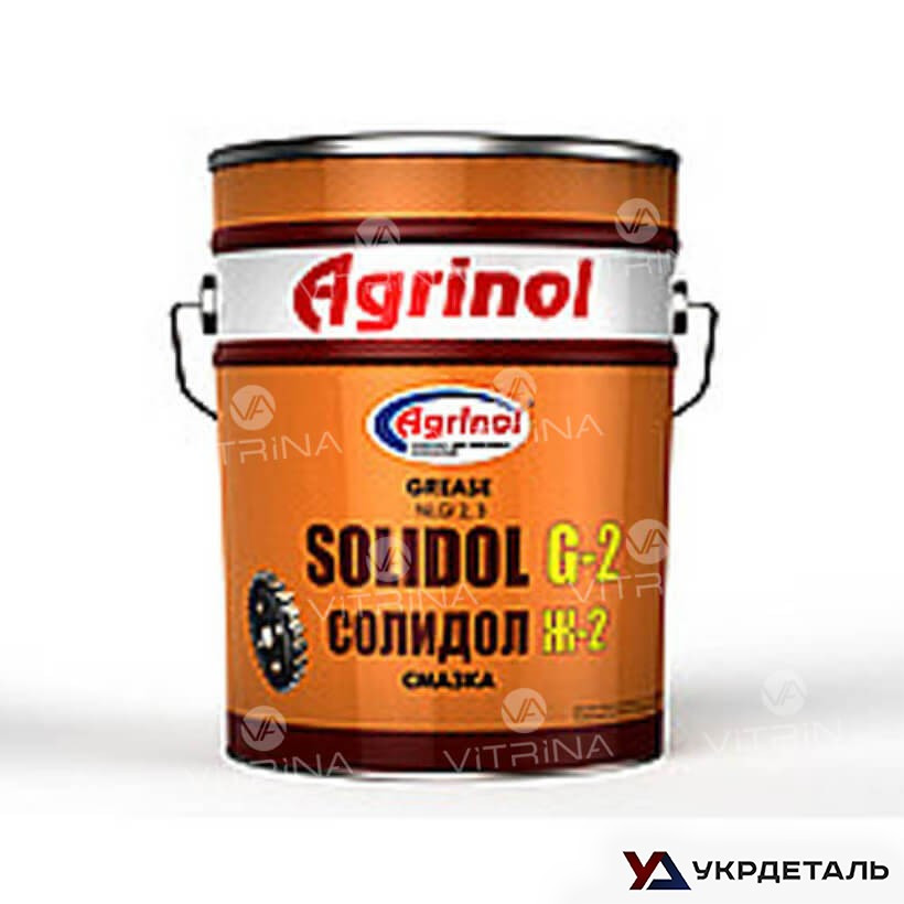 Солидол Ж-2 (Ведро 17кг) антифрикционная универсальная смазка │ Агринол 4102789956