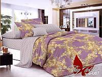 Полуторный комплект постельного белья с компаньоном сатин люкс S-087