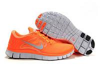 Кроссовки женские Nike Free Run Plus 3  (найк фри ран, кроссовки для бега, nike free, оригинал) оранжевые