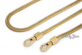 Ручка-цепь для сумки 110*0,7см+карабин, Золото