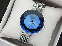 Оригинальные женские наручные часы Baosaili с короной, синий циферблат, серебро