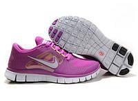 Кроссовки женские Nike Free Run Plus 3  (найк фри ран, кроссовки для бега, nike free, оригинал) фиолетовые
