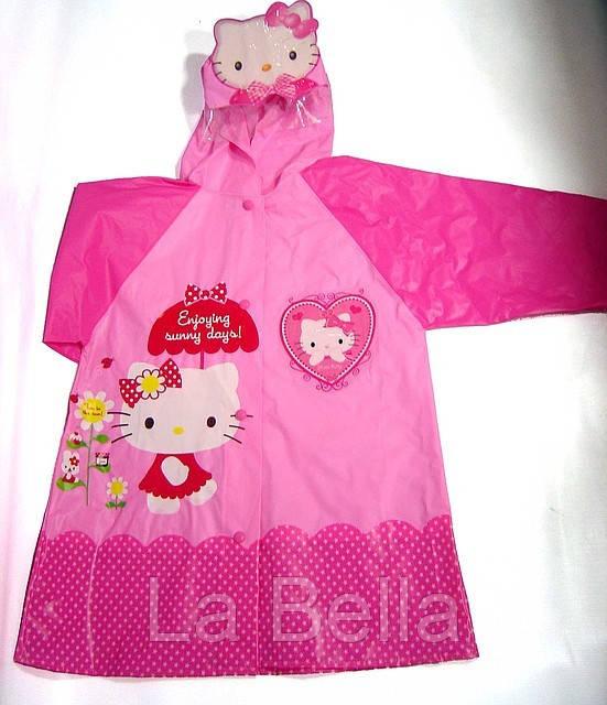 Плащ дождевик для девочек Hello Kitty