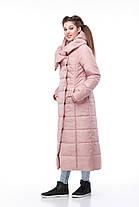 Пальто видовжене стьобана КОМІЛЬФО МІЛІТАРІ великих розмірів 42-54, фото 2