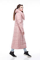 Пальто видовжене стьобана КОМІЛЬФО МІЛІТАРІ великих розмірів 42-54, фото 3