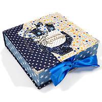 Шкатулка Мамины сокровища Бодик для мальчика на рождение, под заказ, 20 на 20 см, ручная работа