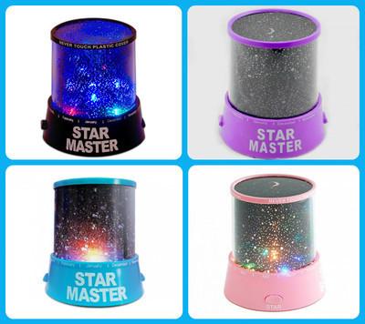 Ночник - проектор Star Master от USB (розовый)