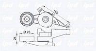 Натяжная планка на  поликлин  ремень WV T5 1.9TD