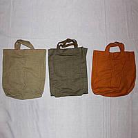 Комплект 3 хозяйственные брезентовые сумки 46х46х11 см и меньше, эко-торба, фото 1