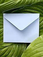 Плотный мини крафт конверт для визитки нежно голубой