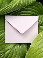 Плотный крафт конверт мини для пластковой карты нежно розовый