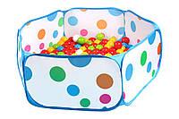 Бассейн и Шарики для сухих бассейнов,Набор шариков ТехноК с бассейном для игровой комнаты, 5552