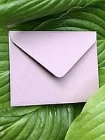 Плотный крафт конверт мини для пластковой карты винтажная роза