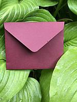 Плотный крафт конверт мини для пластиковой карты тёплое вино