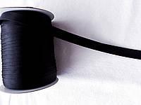Косая бейка атласная, 15мм, цвет черный