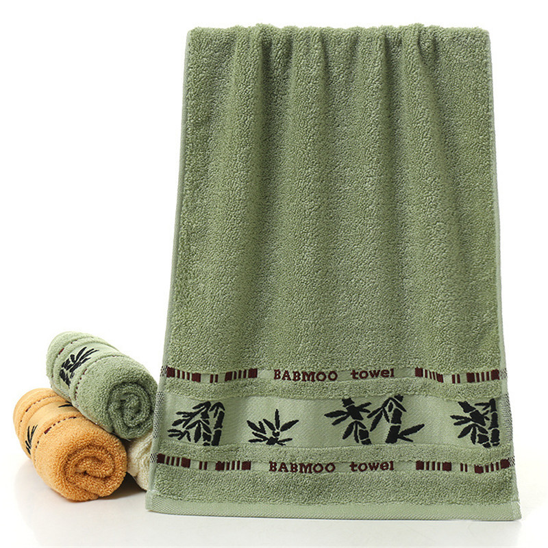 Полотенце махровое бамбуковое 140x70 см (зеленый)