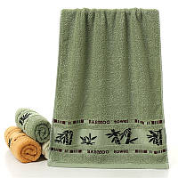 Полотенце махровое бамбуковое 140x70 см (зеленый), фото 1