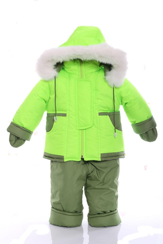 Зимний костюм с меховой подстежкой Ноль Салатовый
