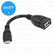 OTG кабель USB AF - microUSB 0,1м