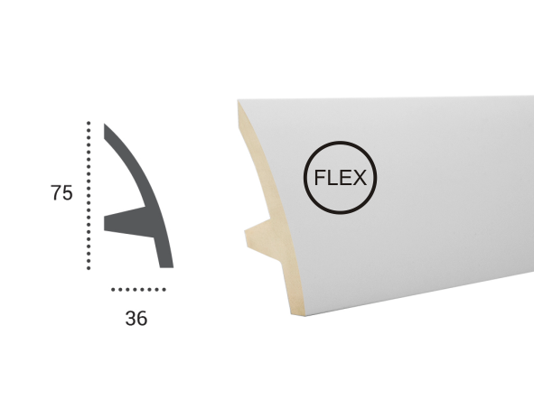 LED профили Tesori KF 502 Flexi,лепной декор из полиуретана.