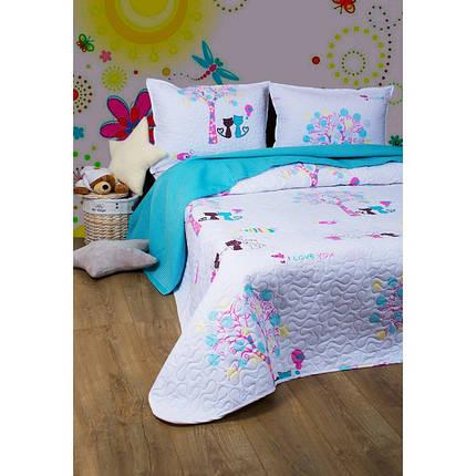 Покрывало детское 200х220 с наволочками на кровать, диван I Love You, фото 2