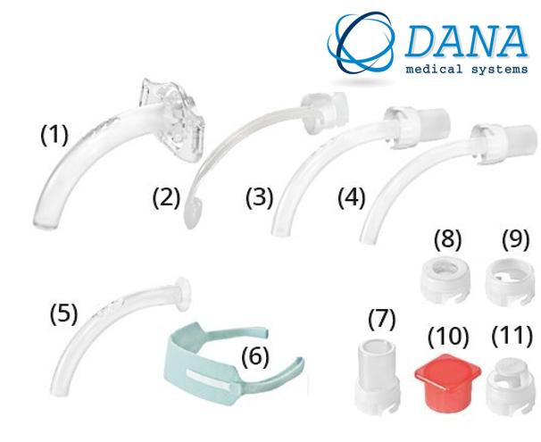 Трахеостомическая трубка KAN 8.0 без манжеты со сменными канюлями, фенестрированная (Набор для трахеостомии)