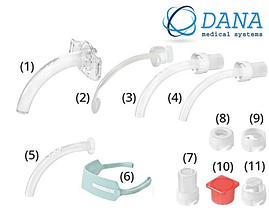 Трахеостомическая трубка KAN 8.0 без манжеты со сменными канюлями,фенестрированная (Набор для трахеостомии)