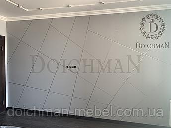 Декоративные панели МДФ крашеный с металлическими вставками