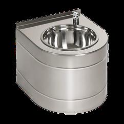 Питьевой фонтан настенный нержавеющий с автоматической подачей воды, 6 В (батарея)