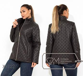 Куртка демисезонная с подкладом на синтепоне 100, застежкой на молнии и высоким воротом X9122
