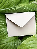 Плотный крафт конверт мини для пластиковой карты бисквит