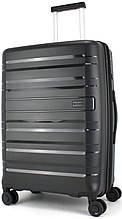 Пластиковый чемодан средний CONWOOD 62 л, черный
