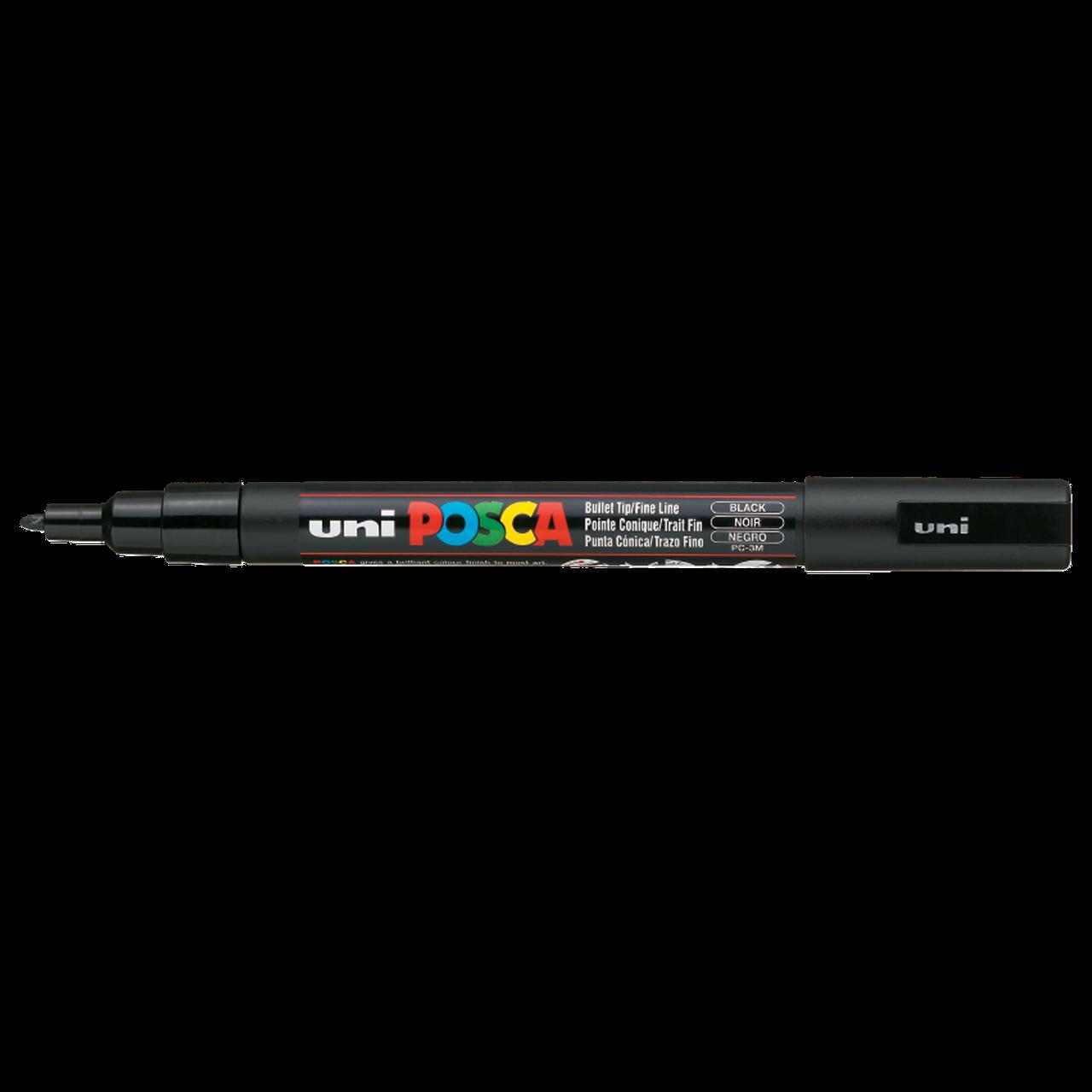 Маркер Uni Posca 0.9-1.3 мм чёрный