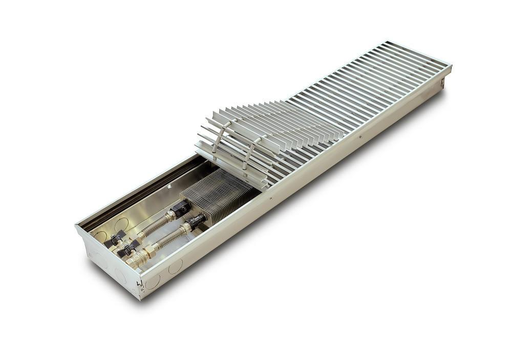 Конвекторы внутрипольные для дома, квартиры без вентилятора TeploBrain E 230 mini (B; L; H) 230.1000.75