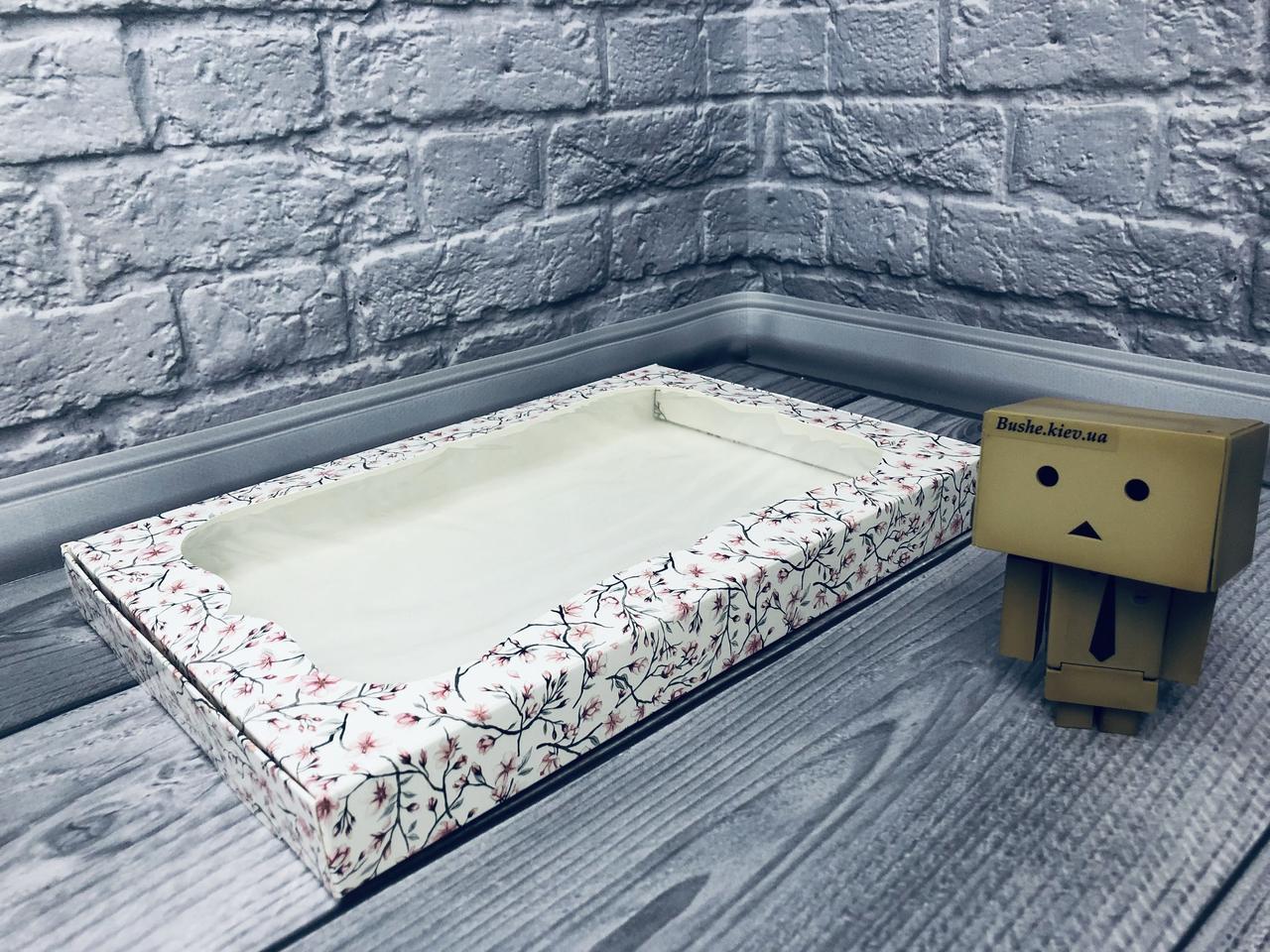 Коробка для пряников / 300х200х30 мм / печать-Сакура / окно-обычн / лк / цв