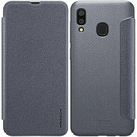 Кожаный чехол-книжка Nillkin Sparkle для Samsung Galaxy A20 / A30