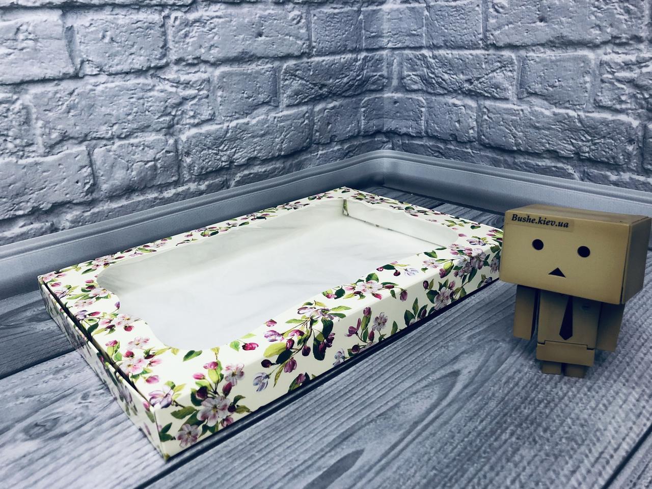 *10 шт* / Коробка для пряников / 300х200х30 мм / печать-Весна / окно-обычн / лк / цв