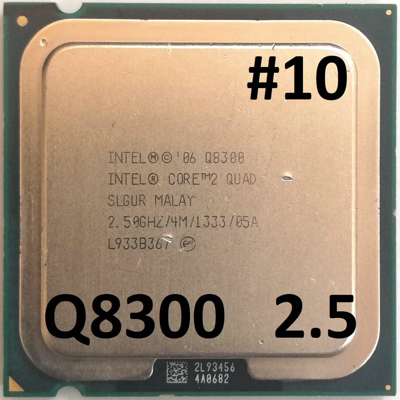 Процессор ЛОТ#10 Intel® Core™2 Quad Q8300 SLGUR 2.5GHz 4M Cache 1333 MHz FSB Socket 775 Б/У