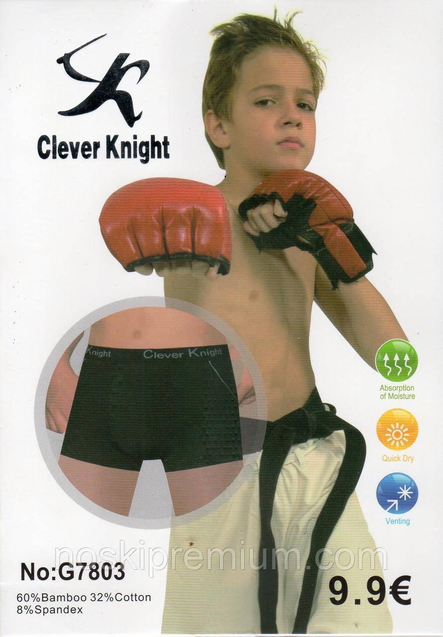 Детские подростковые боксеры хлопок с бамбуком Clever Knight, 6-15 лет, 7803