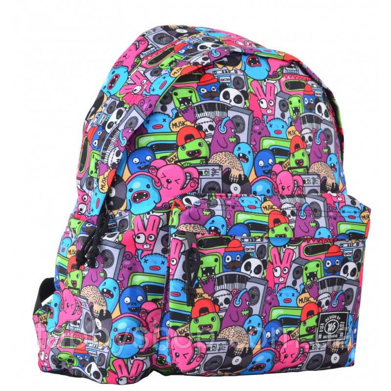 Рюкзак школьный подростковый YES ST-17 Crazy muzic