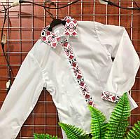 Вышиванка - Рубашка с длинным рукавом для мальчика Батист 122р-140р