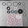 Ремкомплект кермової рейки з ГУР Volvo 740, Volvo 760, Volvo 780, Volvo 940, Volvo 960 VO9007KIT